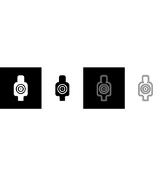 set human target sport for shooting icon isolated vector image