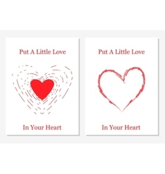 set of design templates with abstract hearts vector image
