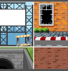 Set of different industrial scenes vector