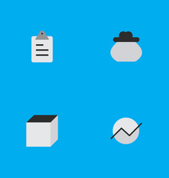 Set of simple job icons elements square diagram vector