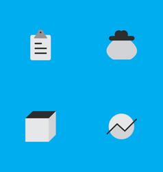 Set simple job icons elements square diagram vector