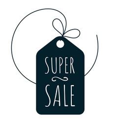 shopping super sale icon vector image