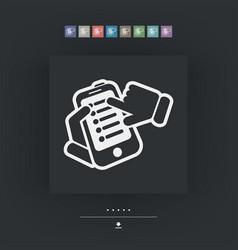 Smartphone setting icon vector