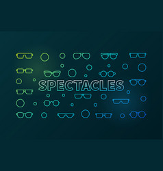 Spectacles colorful horizontal linear vector