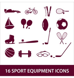 Sport equipment icon set eps10 vector