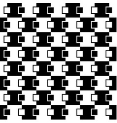 Squares abstract pattern monochrome seamlessly vector