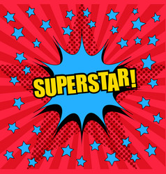 Superstar comic wording template vector