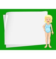 Swimming Girl paper copyspace vector