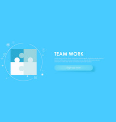 Team work banner vector