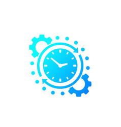 time management productivity icon vector image
