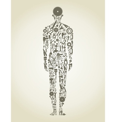 tool person vector image