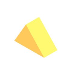 Triangular prism yellow color vector