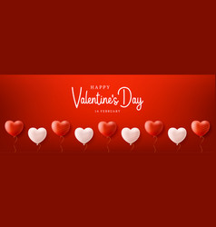 valentines day sale background with balloons vector image