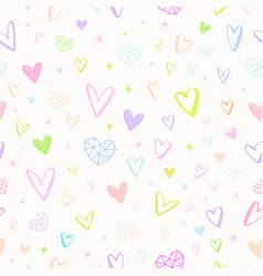 valentines day seamless hearts pattern vector image