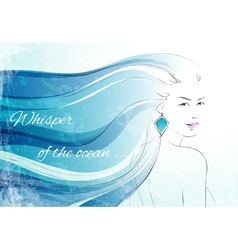 Whisper of the ocean background vector image