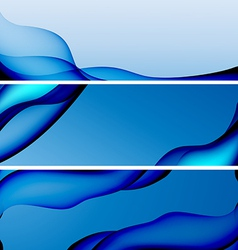 Abstract blue background banner vector image vector image