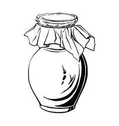 antique jug vector image vector image