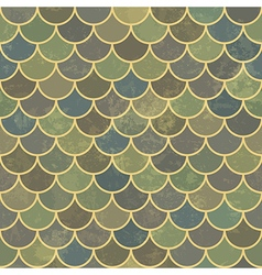 blue seamless scale aged pattern vector image vector image
