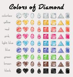 colors of diamond vector image