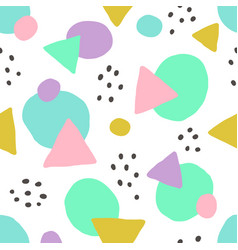 cute geometric background seamless pattern vector image vector image
