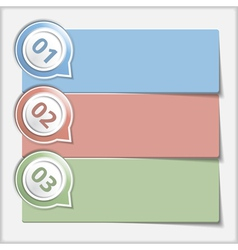 Design Template with Three Elements vector image