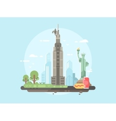 New york city flat vector image vector image