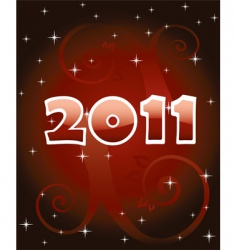 numbers 2011 vector image
