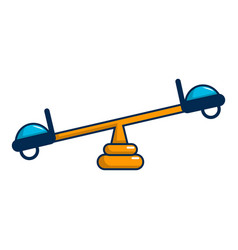 See saw icon cartoon style vector