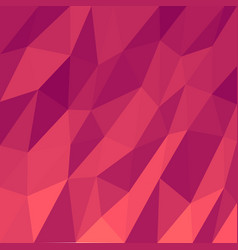 Abstract triangular mosaic bright red background vector