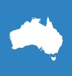 australia map flat vector image