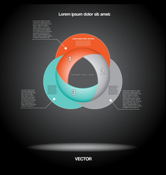 Diagram infographic three positions vector image