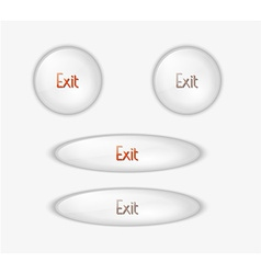 exit buttons vector image vector image