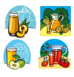fresh juices vector image
