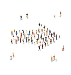 group of people in the shape of a arrow vector image vector image