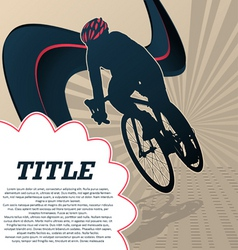 sport template poster cycling vector image
