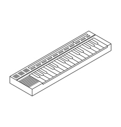 Synthesizer icon in outline style isolated on vector image