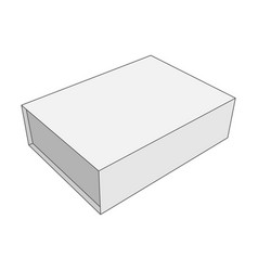 white box template for your business vector image