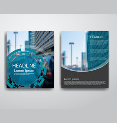 abstract modern flyers brochure vector image