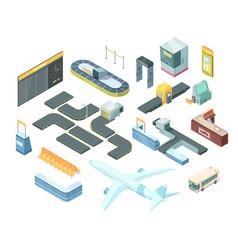 airport isometric set vector image