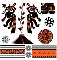 ancient american ornaments vector image vector image