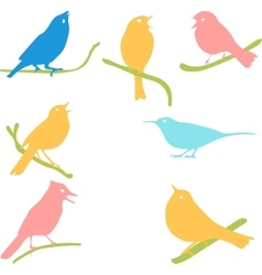 Bird Silhouettes colored silhouettes vector image vector image