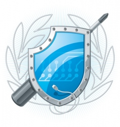 electronic shield vector image vector image