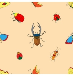 Background of the insects vector image vector image