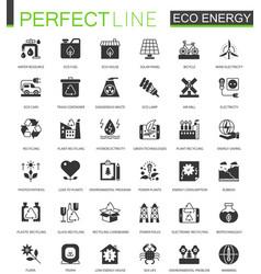 black classic eco renewable energy green vector image