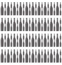 bottles wine seamless pattern design vector image