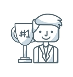 business people success icon vector image