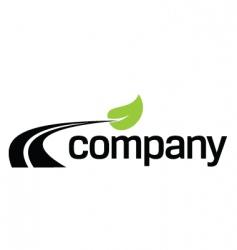 eco fuel road logo design vector image vector image