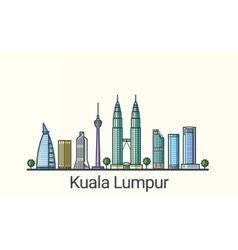 Flat line Kuala Lumpur banner vector image vector image