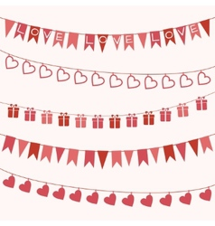 Garlands for Valentines Day or wedding vector image