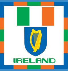 official government ensigns of ireland vector image